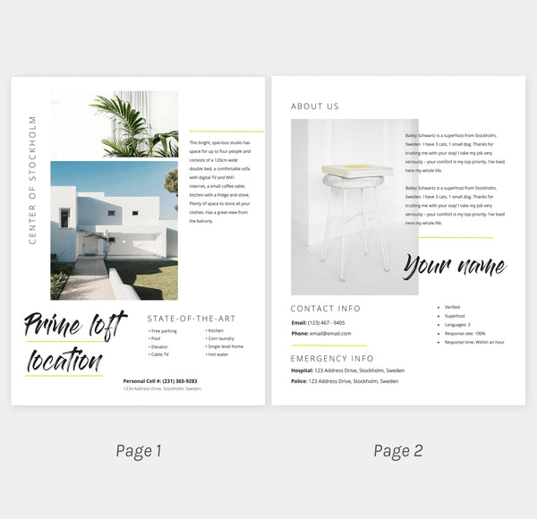 rental manual template