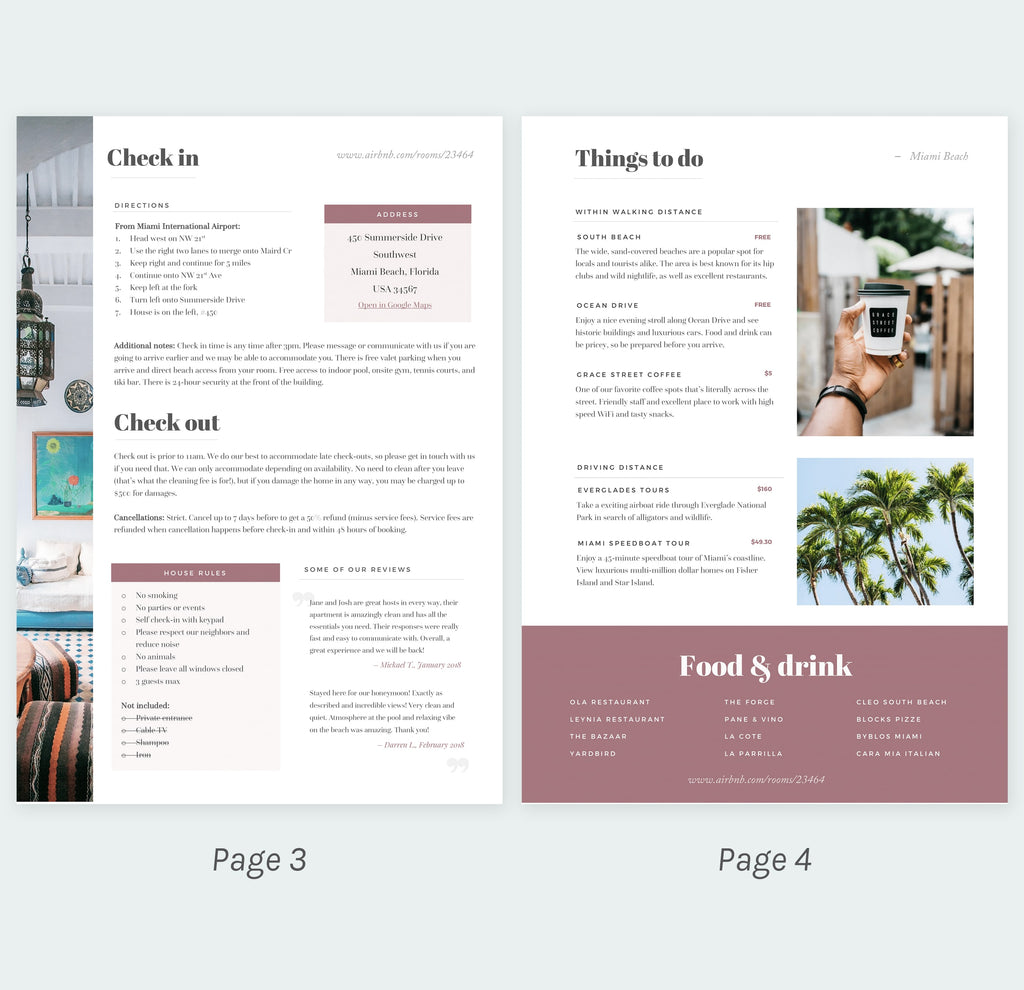 House Manual Template Free