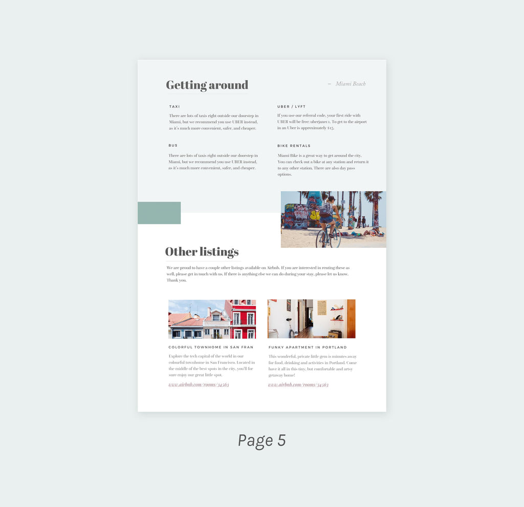 The Miami Home Rental Welcome Kit Template Templates For Home
