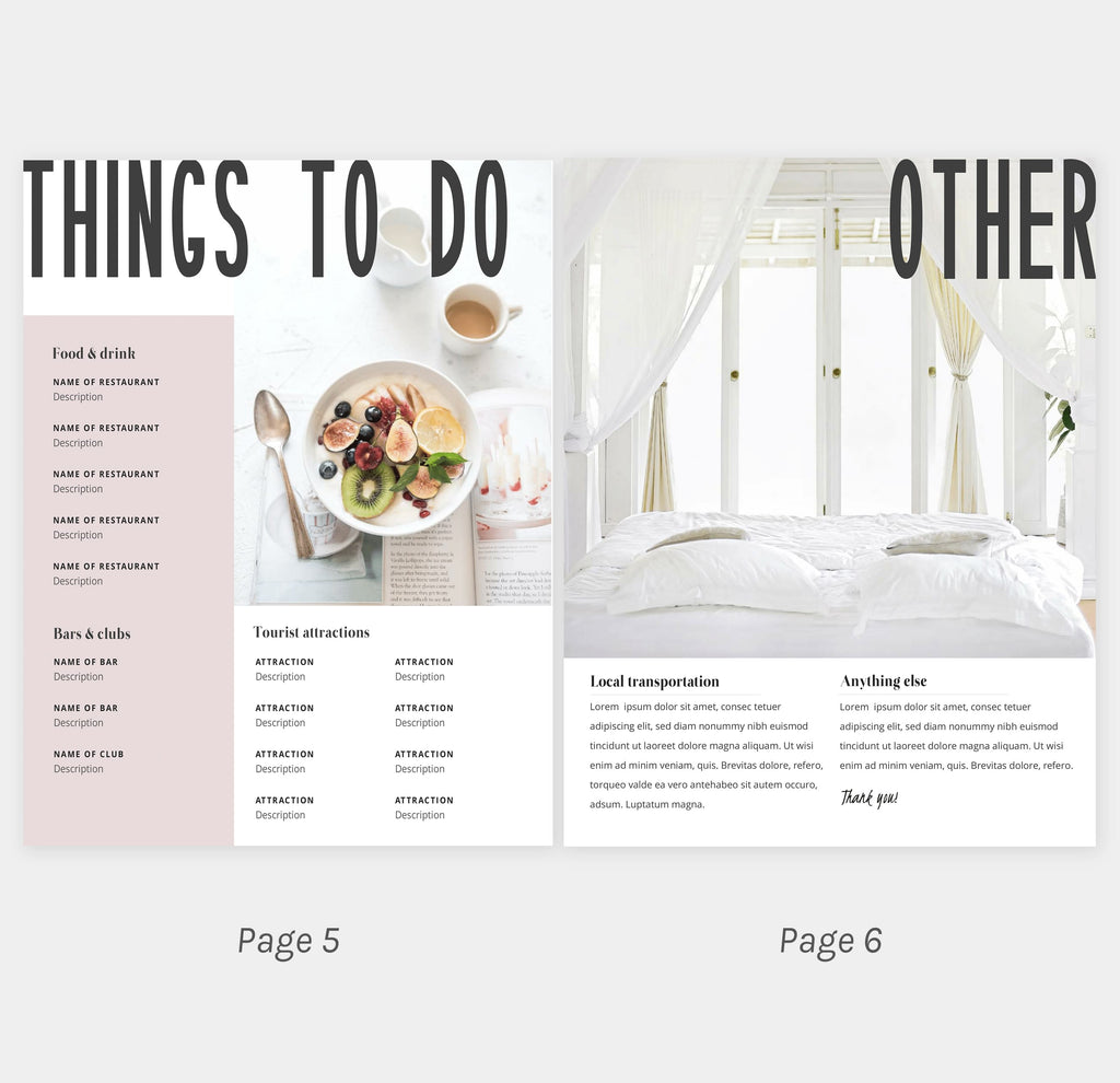 The Barcelona – Home Rental Welcome Book Template