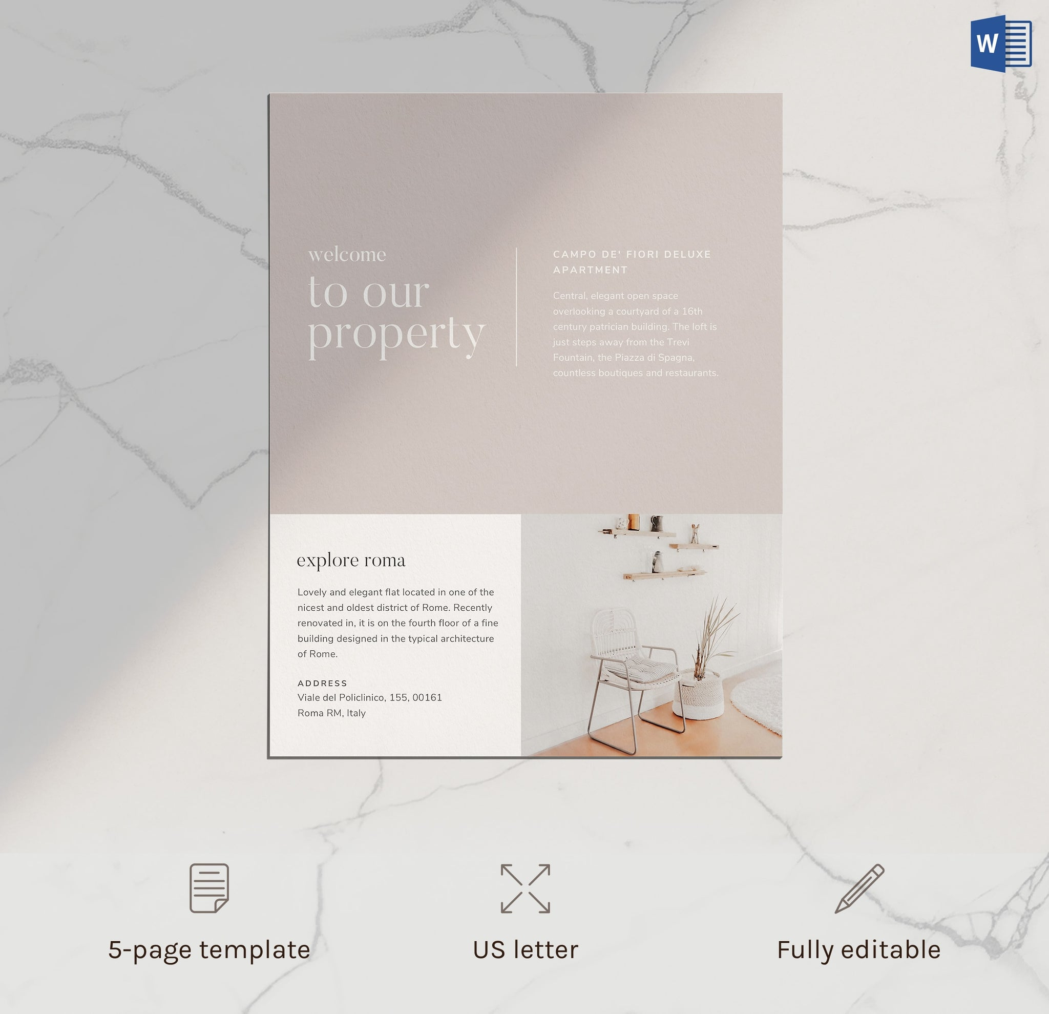 airbnb welcome book minimal template