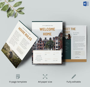 airbnb welcome book template