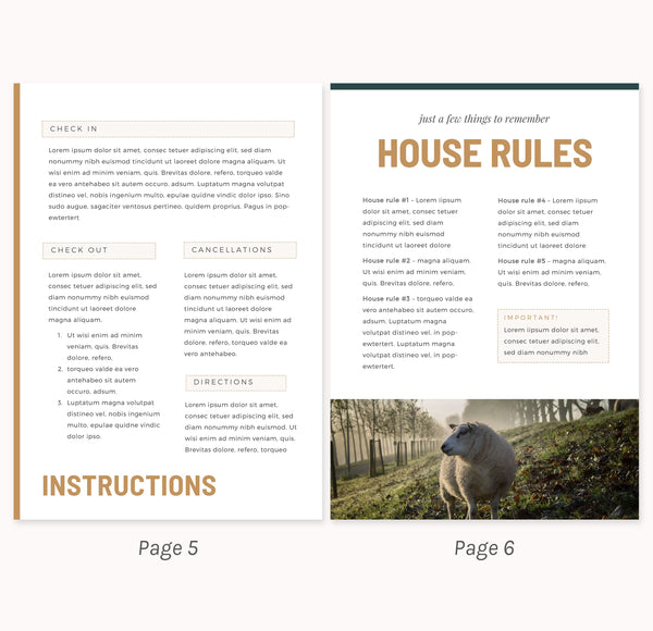 home rental welcome template
