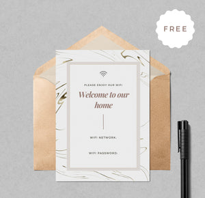 free wifi printable card