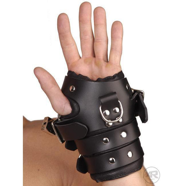 Strict Leather Four-Buckle Suspension Cuffs