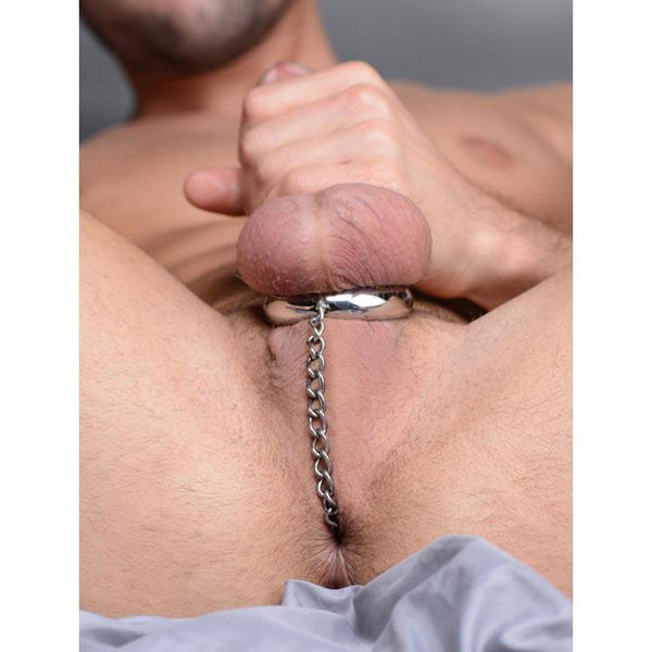 Stainless Steel Cock Ring and Anal Plug