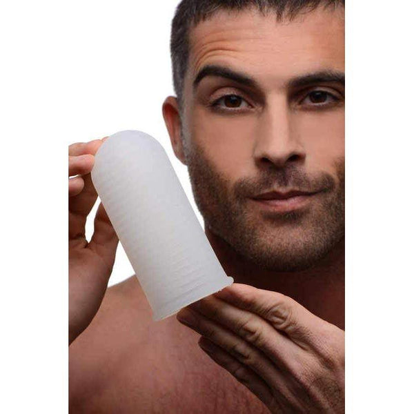 Ultra Grip Ribbed Silicone Masturbator