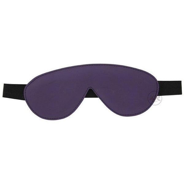 Strict Leather Black and Purple Blindfold