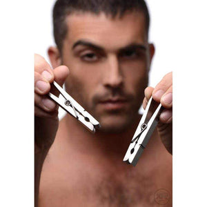 Tom of Finland Bros Pin Stainless Steel Nipple Clamps