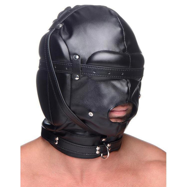 Bondage Hood with Breathable Ball Gag