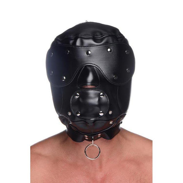 Universal BDSM Hood with Removable Muzzle
