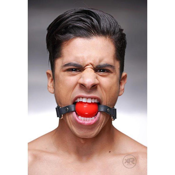 Silicone Ball Gags with Leather Straps