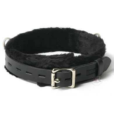 Strict Leather Low Rise Locking Fur Collar