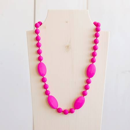 Teething Necklace - Fushia