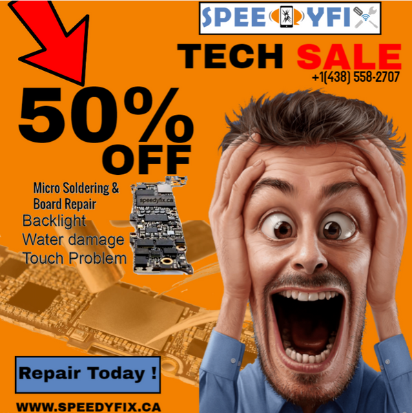 Black Friday 50% discounts on all water damage & Motherboard repair services