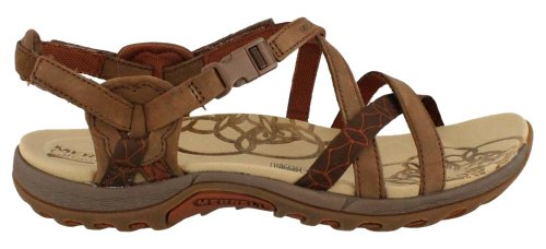 Merrell Women's Jacardia Sandal,Dark Earth - Shoes Direct