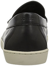 206 Collective Men's Seabeck Boat/Penny Loafer on Cupsole Sneaker, Black Leather, 9.5 D US - Shoes Direct