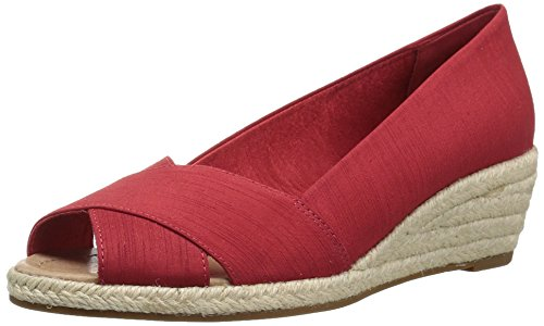 206 Collective Women's Braylon Open-Toe Low Espadrille Wedge Sandal - Shoes Direct