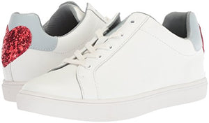 The Fix Women's Tailor Heart Lace-up Fashion Sneaker, Bright White Leather, 11 B US - Shoes Direct