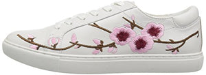 Kenneth Cole New York Women's Kam Lace up Fashion Cherry Blossom Techni-Cole 37.5 Lining Sneaker, White, 8.5 Medium US - Shoes Direct