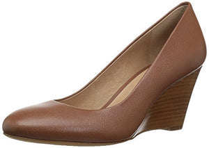 206 Collective Women's Battelle Closed-Toe Covered Wedge Pump - Shoes Direct