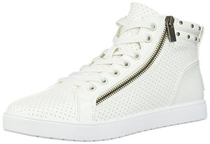 Koolaburra by UGG Women's W Kayleigh High Top Sneaker, White, 7 Medium US - Shoes Direct