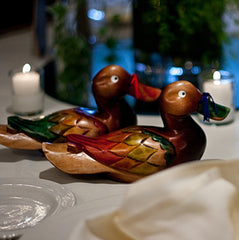 Korean Wedding Ducks - Mandarin Large 9""