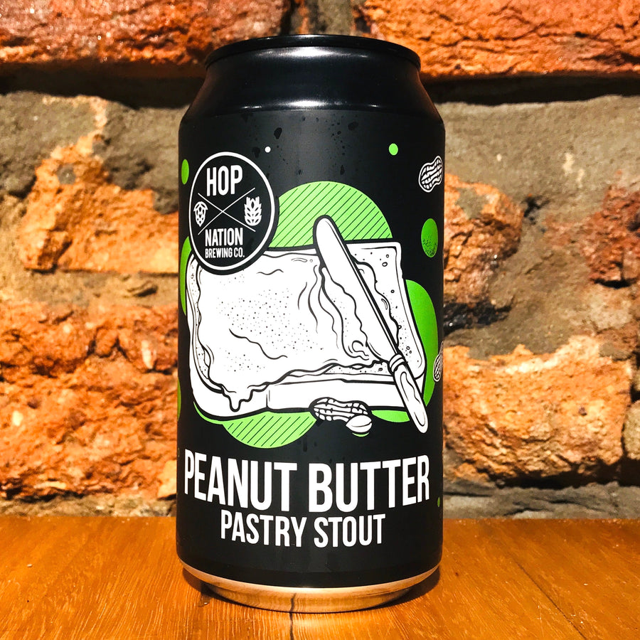 Hop Nation, Peanut Butter Pastry Stout, 375ml