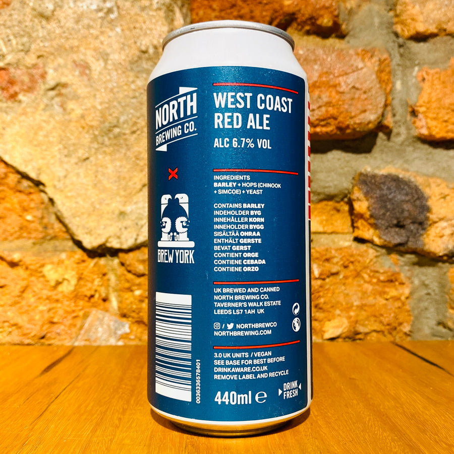 North Brewing Co., North X Brew York West Coast Red Ale, 440ml