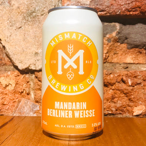 Mismatch Brewing, Mandarin Berliner Weisse, 375ml