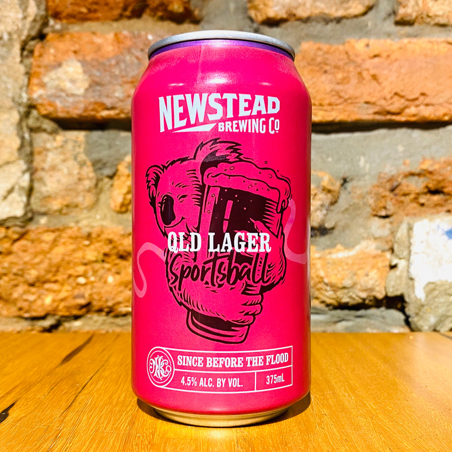 Newstead, Sportsball Qld Lager, 375ml