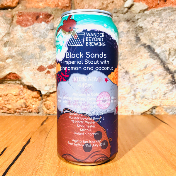 Wander Beyond Brewing, Black Sands, 440ml