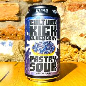 10 Toes Brewery, Culture Kick - Blueberrry Pastry Sour, 375ml
