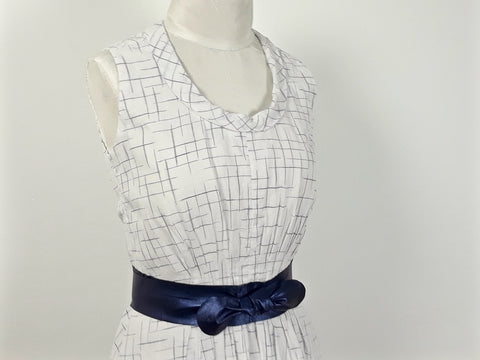 Project: Handloom Cotton Crosshatch Dress