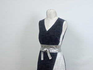Project: Asymmetric Dress in Black and White Checks