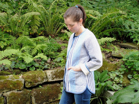 Project: Claire's Tamarack Jacket in Handloom Stripes