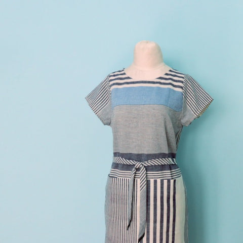 Project: Cielo Dress in Handloom Stripes