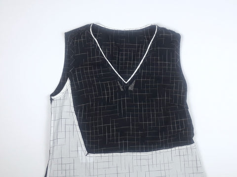 Asymmetric Dress inside bodice front