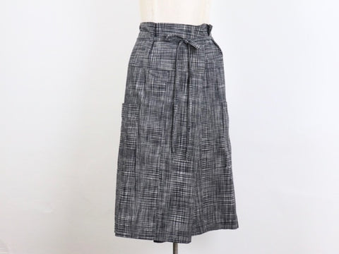 Nehalem Skirt in handloom cotton check fabric