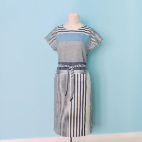 Striped Cielo Dress Belted