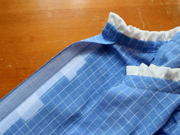add interfacing before sewing buttons for strength