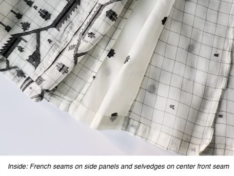 Sew with French seams on delicate fabrics