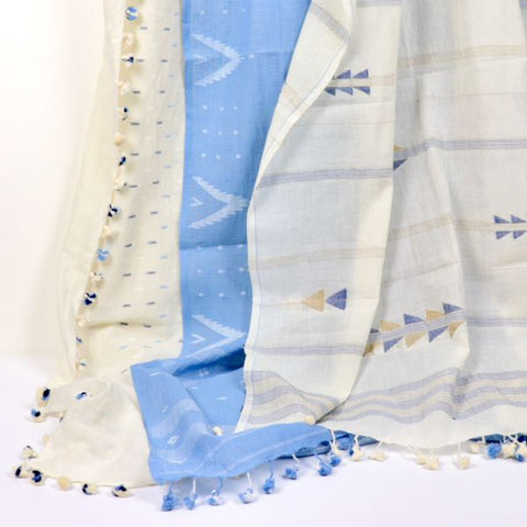 sustainable gift naturally dyed handwoven cotton scarves