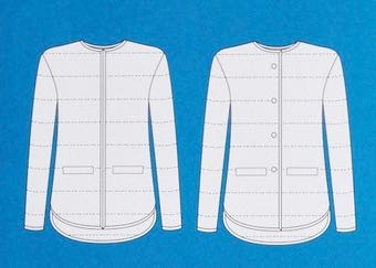 Tamarack Jacket from Grainline Studio line drawing