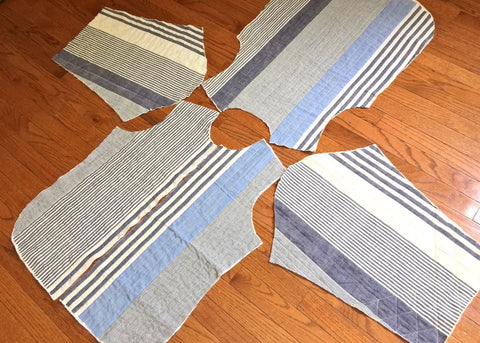 Tamarack Jacket stripe layout