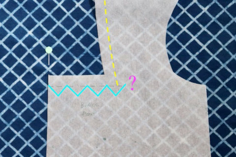 sewing tutorial: where to place neckline?