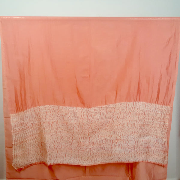 Coral Waves 3-Yard Panel in Shibori Silk/Cotton
