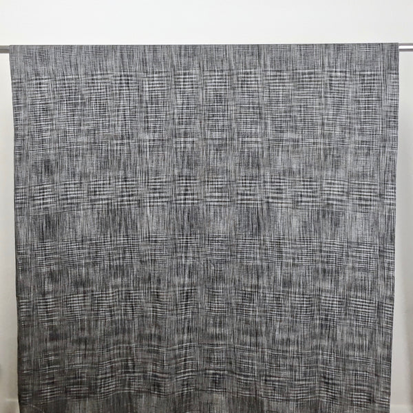 Black and White Checks Handwoven Cotton Fabric