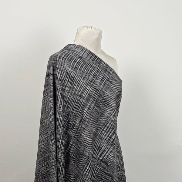 Random Checks Handloom Cotton - Black and White