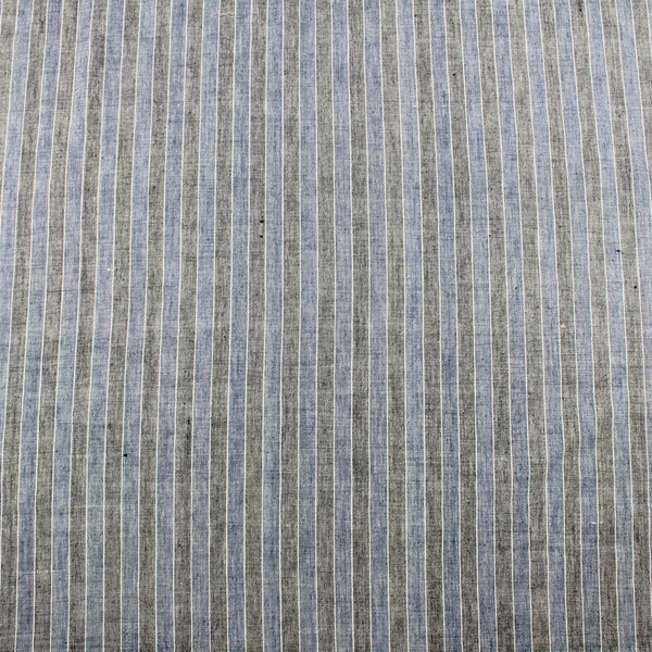 Black and Indigo Stripe Handloom Cotton